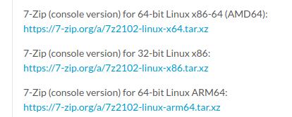Zweite Alpha-Version von 7-Zip für Linux