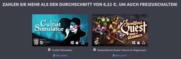 Cultist Simulator und SteamWorld Quest
