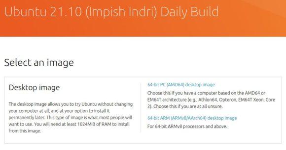 Daily Builds von Ubuntu 21.10 Impish Indri sind ab sofort verfügbar