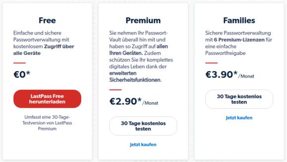 LastPass Free – für eine kostenlose Version üppig bestückt