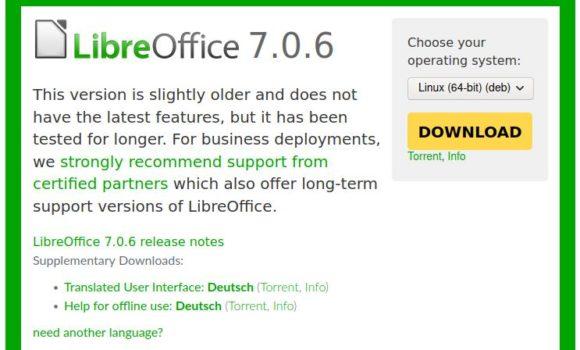 LibreOffice 7.0.6 ist verfügbar