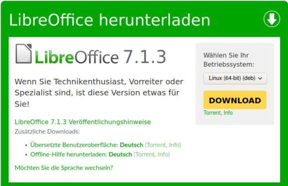 LibreOffice 7.1.3 ist verfügbar
