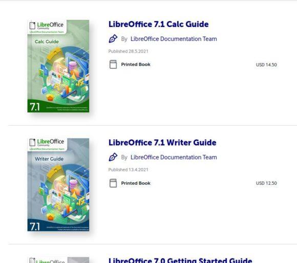LibreOffice-Handbücher als Druckversion
