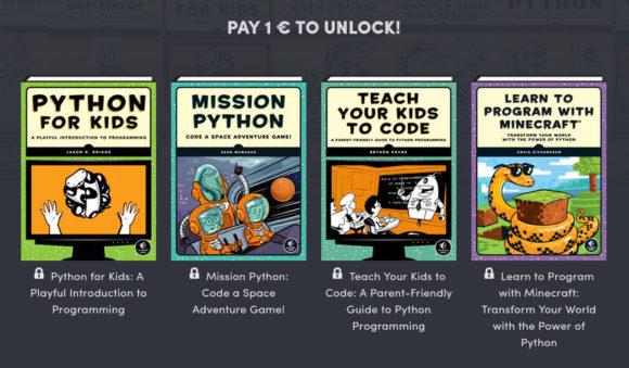 4 Python-Bücher für 1 €