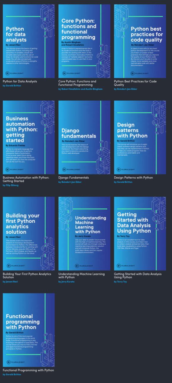 Python Development: 20 Bücher für etwas über Euro