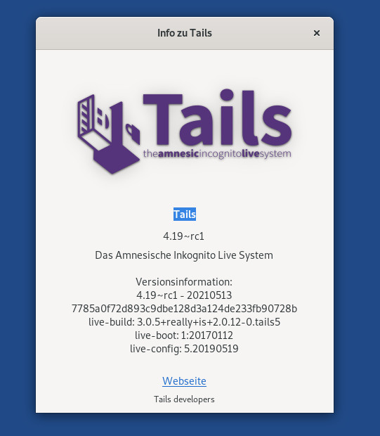 Tails 4.9 RC