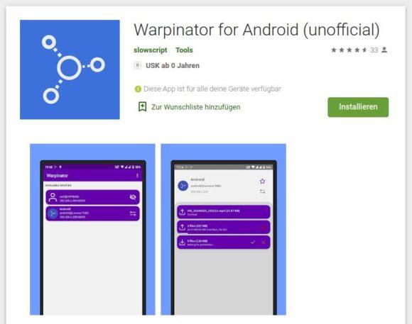 Warpinator für Android – ab sofort verfügbar