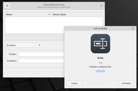 Bulky in Linux Mint 20.2 Uma