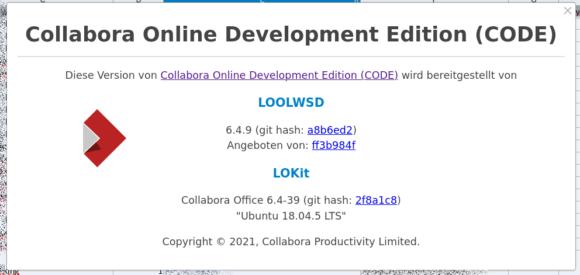 Collabora Online 6.4.9 / CODE