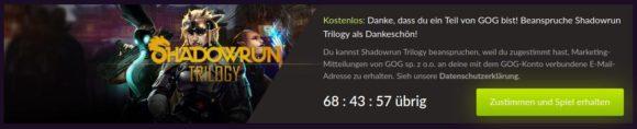 Shadowrun-Trilogie kostenlos bei Gog