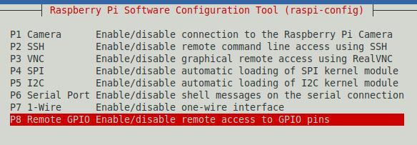 Remote GPIO via raspi-config aktivieren