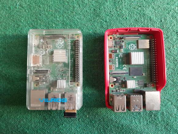 Mittels pigpio / Remote GPIO will ich die Pins des Pi 2 (links) mit dem Pi 4 (rechts) steuern