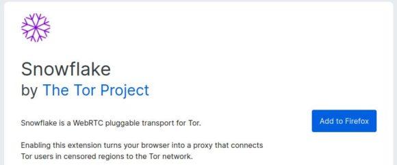 Snowflake gibt es als Erweiterung für Firefox und Chrome