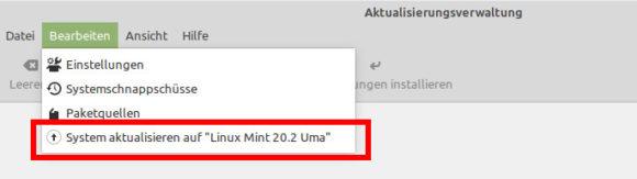 Auf Linux Mint 20.2 Uma aktualisieren