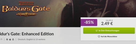 Baldur's Gate I EE ist um 85 % reduziert