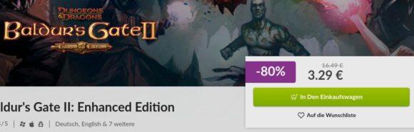 Baldur's Gate II EE ist um 80 % reduziert