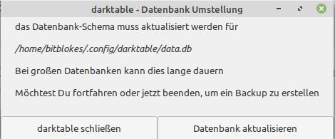 Darktable 3.6.0 aktualisiert Datenbanken