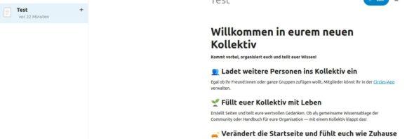Nextcloud 22 – Kollektiv erstellen: Test
