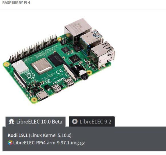 Du kannst LibreELEC 10 mit Kodi 19 auf dem Raspberry Pi 4 testen