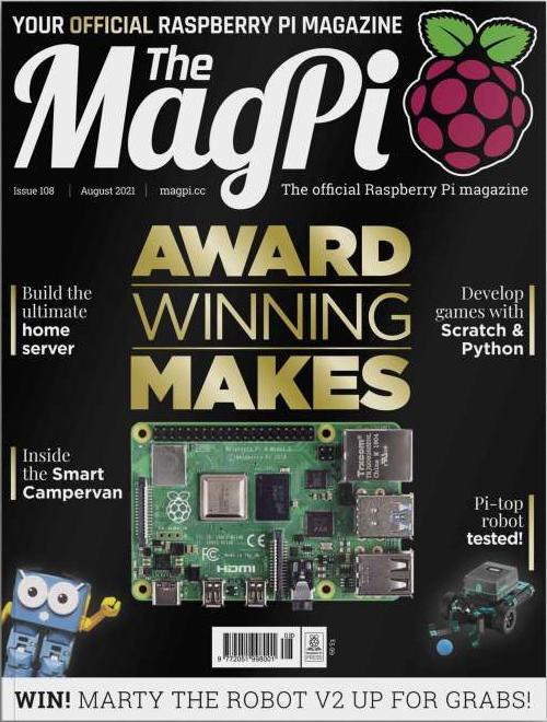 Viele spannende Artikel findest Du im MagPi 108