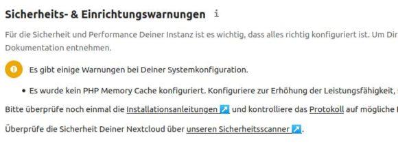 Es ist kein Memory Cahce verfügbar – stimmt, sonst hätte das Update nicht geklappt