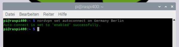 Das Raspberry Pi VPN immer automatisch mit Berlin verbinden
