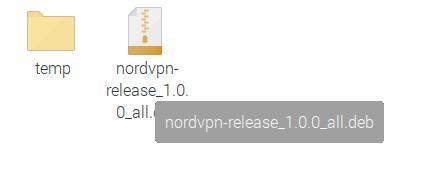 NordVPN .deb-Datei für das Repository