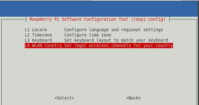 WLAN-Land beim Raspberry Pi festlegen