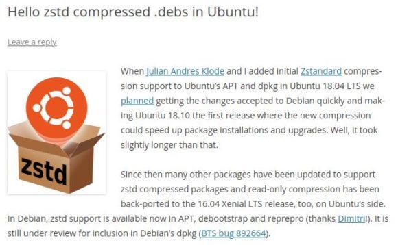 zsdt-Komprimierung kommt mit Ubuntu 21.10