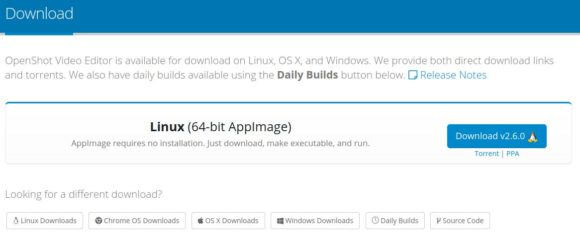 OpenShot 2.6.0 herunterladen