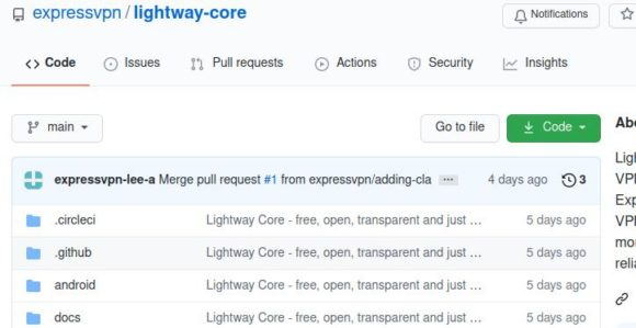 Lightway von ExpressVPN auf GitHub