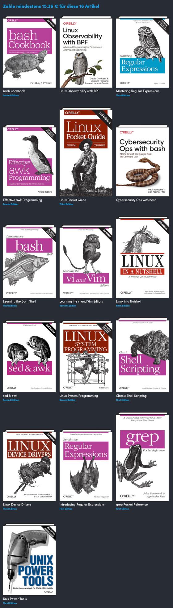 16 Bücher als Schnäppchen – Linux und UNIX
