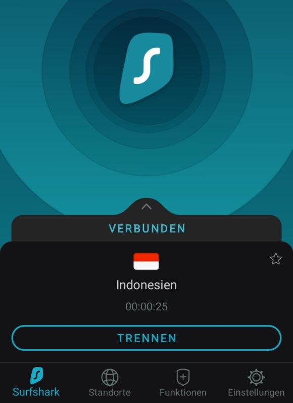 Surfshark betreibt zuverlässige Server in Indonesien