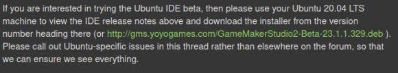 GameMaker Studio 2 (Beta) für Ubuntu Linux