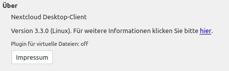 Plugin für virtuelle Dateien ist off … hmmm …
