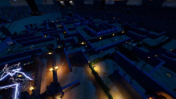 Eine neue dunkle Arena in SuperTuxKart 1.3 (Quelle: supertuxkart.net)