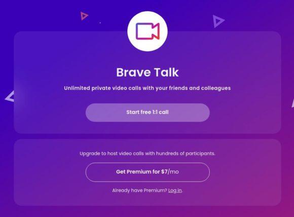 Brave Talk ist für 1:1-Videoanrufe kostenlos