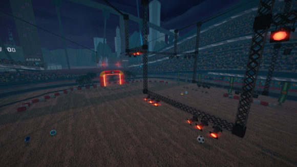 Las Dunas Soccer Stadium wurde für SuperTuxKart 1.3 überarbeitet (Quelle: supertuxkart.net)