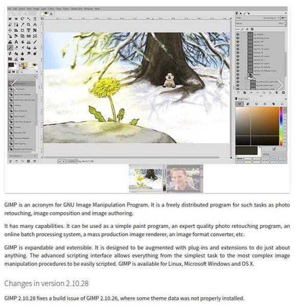 GIMP 2.10.28 kannst Du unter Linux via FlatHub installieren