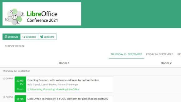 Zeitplan für LibreOffice-Konferenz 2021 steht