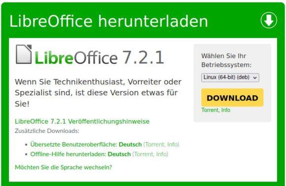 LibreOffice 7.2.1 ist da