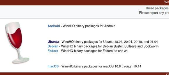 Wine 6.18 aus dem Download-Bereich beziehen