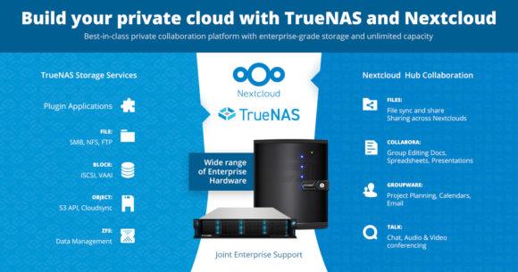Nextcloud und TrueNAS haben Partnerschaft angekündigt