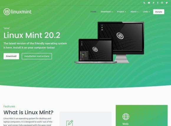 Linux Mint mit neuer Neue Website